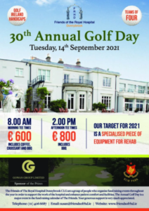 30th Annual Golf Day – 14th September 2021