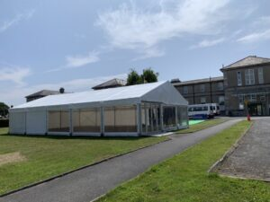 Visitors Marquee for RHD